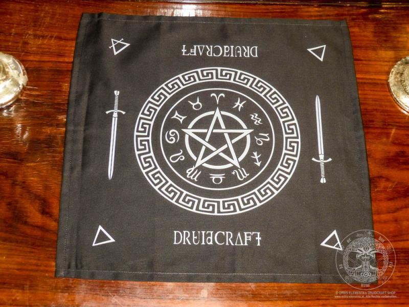 """Altartuch """"Pentagramm mit Sternzeichen"""""""