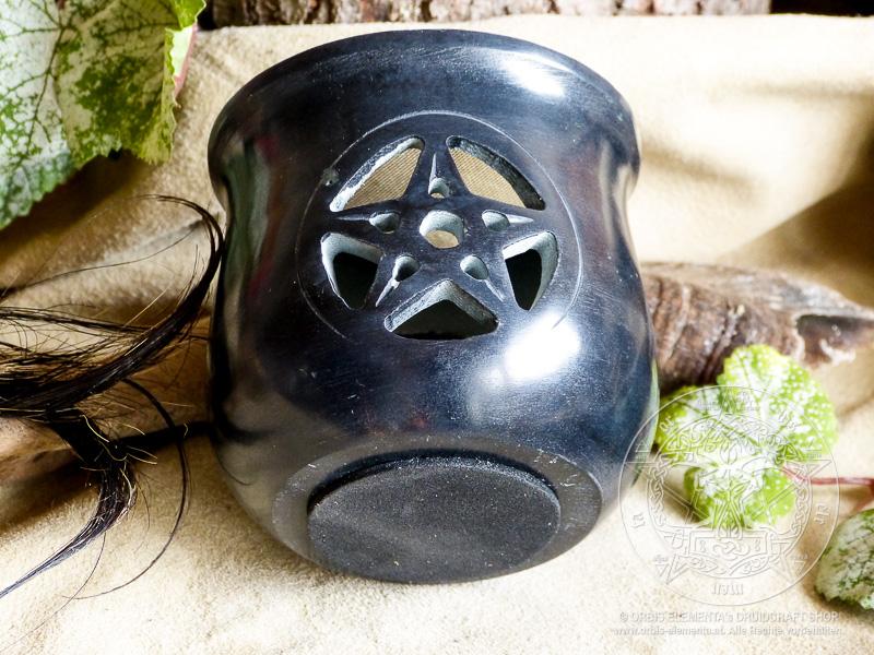 Räucherstövchen Pentagram schwarz